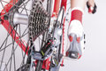 Cycling Ideas. Rear Derailleur And Cassette Sprokets Along With Royalty Free Stock Images - 73473759