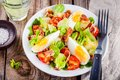 Potato Salad With Eggs, Lettuce,  Tomatoes And Bacon Stock Photography - 73490812