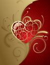 Background With A Heart Royalty Free Stock Image - 7356236