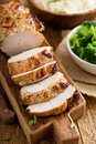 Barbecued Turkey Breast With Honey Mustard Glaze Royalty Free Stock Images - 73501249