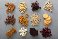 Variety Of Healthy Snacks Overhead Shot Stock Photography - 73502512