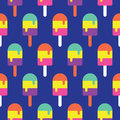 Seamless Popsicle Pattern  Colorful, Candy Vector Royalty Free Stock Photo - 73504125