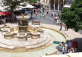 Landscape Of Renaissance Fountain With Four Lions, Irakleio, Crete Royalty Free Stock Image - 73533196
