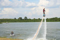 Man Ride On Flyboard Stock Photo - 73535970