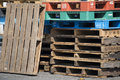 Pile Of Wooden Pallets Stock Images - 73554984