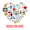 Heart Icon With Healthcare And Medical Sketches Stock Photos - 73568243