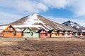 Miners Houses In Longyearbyen Stock Image - 73569401