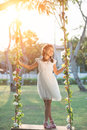 Girl On Swing Royalty Free Stock Photos - 73587558