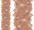 Indian Henna Tattoo Style Vector Floral Vertical Seamless Pattern Royalty Free Stock Photos - 73590258