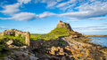 Lindisfarne Castle On The Northumberland Coast Royalty Free Stock Image - 73594336