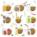 Spices In A Bowl And Glass Container Set Stock Photos - 73594953