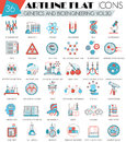Vector Genetics And Bioengineering Ultra Modern Outline Artline Flat Line Icons For Web And Apps. Stock Images - 73601214