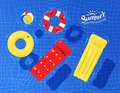 Pool Toys Floating On Water Royalty Free Stock Photos - 73605208
