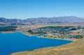 Beautiful Lake Tekapo View From The Summit Of Mount John Stock Image - 73605791