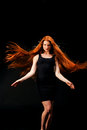 Beauty Girl Portrait. Healthy Long Red Hair. Beautiful Young Wom Royalty Free Stock Photography - 73607207