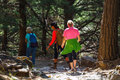 Tourists Hike In Samaria Gorge In Central Crete, Greece Stock Image - 73609541