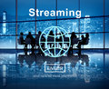 Streaming Internet Media Computer Download Concept Stock Photography - 73629912