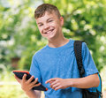 Boy With Tablet Stock Image - 73641501