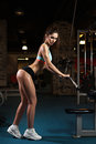 Woman Weight Training At Gym Royalty Free Stock Photos - 73650868