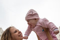 Mom And Baby Laughing Stock Photography - 73654052