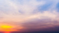 Twilight Sky With Colorful Sunset And Clouds At Beach Stock Image - 73668201