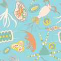 Plankton Seamless Pattern Stock Images - 73675224