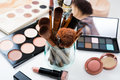 Professional Makeup Brushes And Tools, Make-up Products Set Stock Images - 73691254