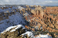 Red Rock Of Bryce Canyon In Winter Royalty Free Stock Images - 7370199