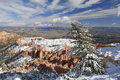 Bryce Canyon In Winter From Inspiration Point Royalty Free Stock Photography - 7370207
