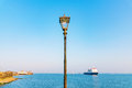 Lamp Post With Blue Sky Royalty Free Stock Images - 73706339