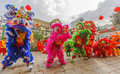 Southern Lion Dance At Eye Opening Ceremony, Lady Thien Hau Pagoda, Vietnam Royalty Free Stock Photography - 73727777