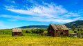 Old Dilapidated Farm Buildings In The Lower Nicola Valley Stock Image - 73732631