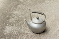 Old Rustic Aluminum Kettle Royalty Free Stock Photo - 73749255