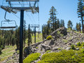Chair Lift In The Summer, Northstar Stock Images - 73754044
