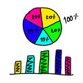 Hand Drawn A Graphics Graph To Top Point Growing Data To Concept Stock Images - 73754794