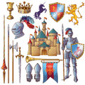 Knight Decorative Icons Set Royalty Free Stock Images - 73765829