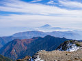 Mt.Fuji Over The Mist And The Mountain Ridge Royalty Free Stock Image - 73769846