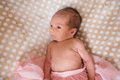 The Newborn Girl In A Skirt Stock Image - 73772701
