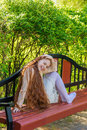 Beautiful Red-haired Girl Royalty Free Stock Photos - 73777498