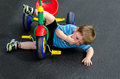 Child Falls Off Tricycle Royalty Free Stock Photos - 73788318