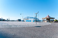 Square With The Carousel Located On The Seafront In Riccione On Royalty Free Stock Images - 73792499