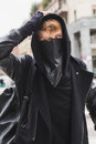 Stylish Bearded Man Posing In The Street Royalty Free Stock Images - 73794109