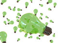 Green Bulbs On Air Royalty Free Stock Photography - 7381317