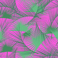 Seamless Tropical Pattern With Green Palm Leaves. Jungle Texture. Perfect For Wallpapers, Pattern Fills, Web Page Backgrounds. Royalty Free Stock Images - 73803499