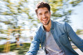Happy Young Handsome Man Having Fun At The Park Royalty Free Stock Photos - 73804238
