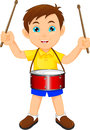 Boy Marching With A Drum Stock Photos - 73810183