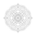 Round Mandalas In Vector. Graphic Template For Your Design. Decorative Retro Ornament. Hand Drawn Background With Flowers. Royalty Free Stock Photo - 73819025