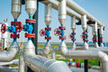 Oil And Gas Pipe Line Valves Stock Photo - 73834360