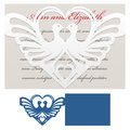 Envelope Template For Laser Cut Royalty Free Stock Image - 73839886
