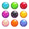 Vector Colorful Glassy Magic Balls Set Royalty Free Stock Photo - 73845525